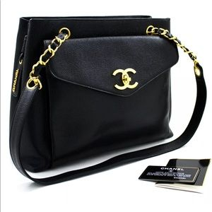 CHANEL Caviar Large Chain Shoulder Bag
